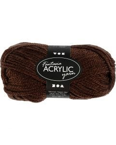 Fantasia Acrylic Yarn, L: 80 m, brown, 50 g/ 1 ball