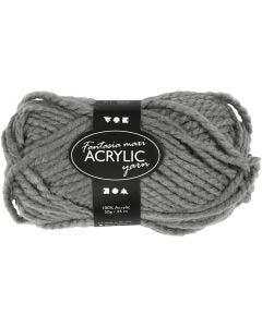 Fantasia Acrylic Yarn, L: 35 m, size maxi , grey, 50 g/ 1 ball