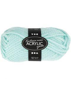 Fantasia Acrylic Yarn, L: 35 m, size maxi , mint green, 50 g/ 1 ball