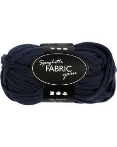 Spaghetti yarn, L: 35 m, dark blue, 100 g/ 1 ball