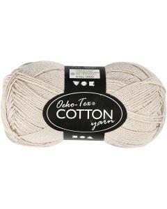 Cotton Yarn, no. 8/4, L: 170 m, sand, 50 g/ 1 ball