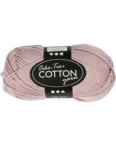 Cotton Yarn, no. 8/4, L: 170 m, lavender, 50 g/ 1 ball