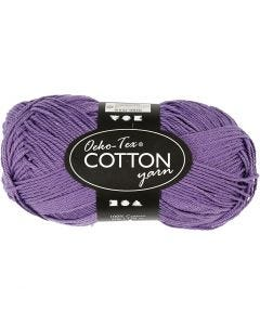 Cotton Yarn, no. 8/4, L: 170 m, purple, 50 g/ 1 ball