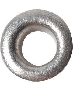 Eyelets, H: 3 mm, D: 8 mm, hole size 4,8 mm, silver, 50 pc/ 1 pack