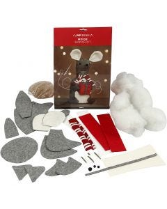 Christmas mouse, H: 30 cm, 1 pc/ 1 pack