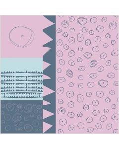 Fabric, W: 145 cm, 140 g, light red, 1 rm