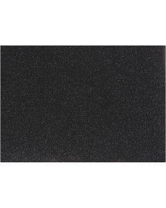 Iron on foil, 148x210 mm, glitter, black, 1 sheet