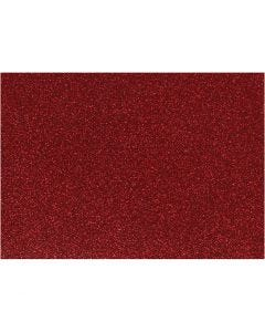 Iron on foil, 148x210 mm, glitter, red, 1 sheet