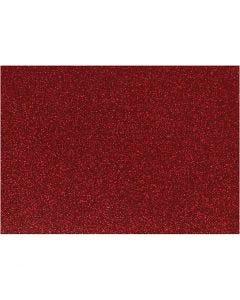 Iron on foil, 148x210 mm, glitter, red, 1 sheet
