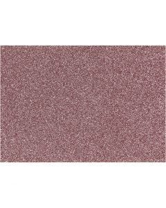 Iron on foil, 148x210 mm, glitter, light red, 1 sheet
