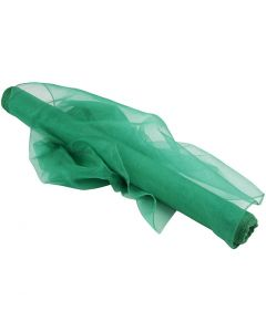 Organza Fabric, W: 50 cm, green, 10 m/ 1 roll