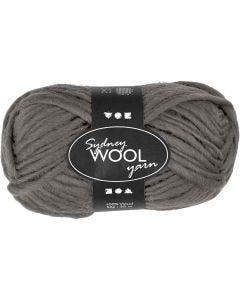 Sydney Yarn, L: 50 m, grey, 50 g/ 1 ball