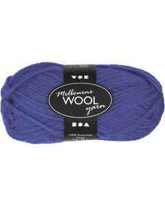 Melbourne Yarn, L: 92 m, blue, 50 g/ 1 ball