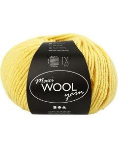 Wool yarn, L: 125 m, yellow, 100 g/ 1 ball