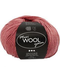 Wool yarn, L: 125 m, dark rose, 100 g/ 1 ball