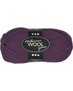Melbourne Yarn, L: 92 m, purple, 50 g/ 1 ball