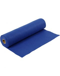 Craft Felt, W: 45 cm, thickness 1,5 mm, 180-200 g, blue, 5 m/ 1 roll