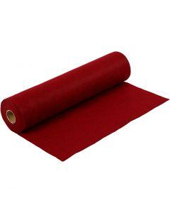 Craft Felt, W: 45 cm, thickness 1,5 mm, textured, 180-200 g, red, 5 m/ 1 roll