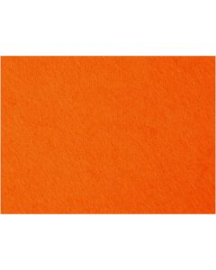 Craft Felt, 42x60 cm, thickness 3 mm, orange, 1 sheet