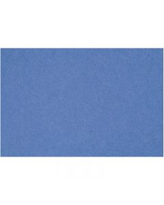 Craft Felt, 42x60 cm, thickness 3 mm, blue, 1 sheet