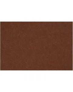Craft Felt, 42x60 cm, thickness 3 mm, brown, 1 sheet