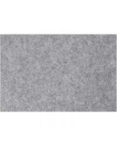 Craft Felt, 42x60 cm, thickness 3 mm, grey, 1 sheet