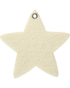 Felt shape, thickness 3 mm, off-white, 5 pc/ 1 pack