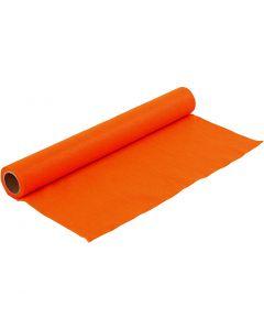Craft Felt, W: 45 cm, thickness 1,5 mm, 180-200 g, orange, 1 m/ 1 roll