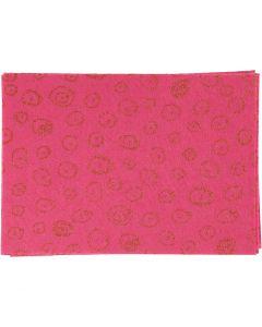 Craft Felt, A4, 210x297 mm, thickness 1 mm, pink, 10 sheet/ 1 pack