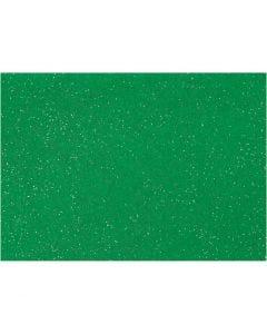Craft Felt, A4, 210x297 mm, thickness 1 mm, green, 10 sheet/ 1 pack