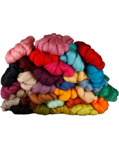 Wool, thickness 21 my, assorted colours, 32x100 g/ 1 pack