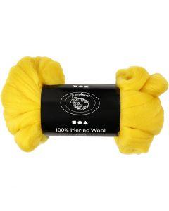 Wool, thickness 21 my, sun yellow, 100 g/ 1 pack