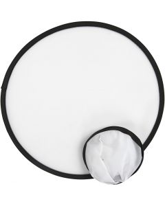 Frisbee, D: 25 cm, white, 5 pc/ 1 pack