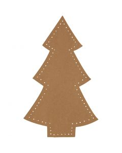 Christmas tree, H: 18 cm, W: 11 cm, 350 g, natural, 4 pc/ 1 pack