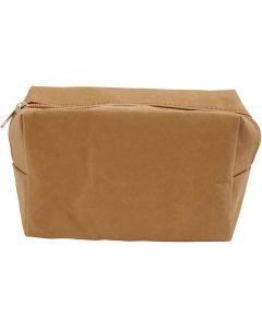 Purse, size 16,5x6,5x10 cm, light brown, 1 pc