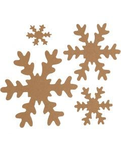 Snowflake, D: 3+5+8+10 cm, 350 g, natural, 16 pc/ 1 pack