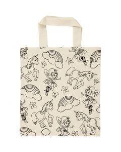 Shopping Bag, size 27,5x30 cm, 135 g, light natural, 1 pc