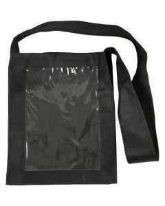 Bag with Plastic Front, size 40x34x8 cm, black, 1 pc