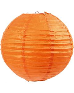 Rice paper lamp, D: 20 cm, orange, 1 pc