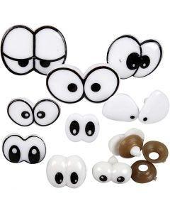 Funny Eyes, size 2-3 cm, 9 asstd./ 1 pack