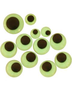Googly Eyes, self-adhesive, D: 8+10+14 mm, 30 asstd./ 1 pack