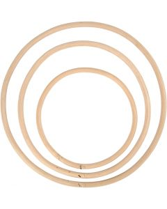 Bamboo ring, D: 15,3+20,3+25,5 cm, 3 pc/ 1 set