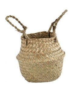 Seagrass basket, H: 11/19 cm, 1 pc
