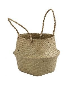Seagrass basket, H: 13/24 cm, 1 pc
