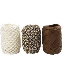 Paper String, beige mother-of-pearl, 3x10 m/ 1 pack
