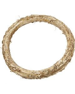 Straw Wreath, D: 35 cm, thickness 3 cm, 1 pc