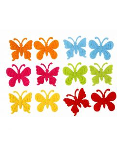 Felt Butterflies, size 3 cm, thickness 1,5 mm, 160 pc/ 1 pack