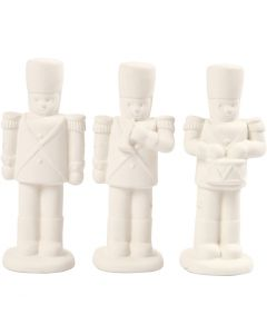 Nutcracker, H: 14 cm, white, 3 pc/ 1 pack