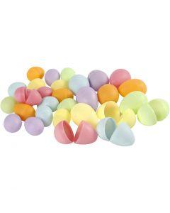 Egg, H: 4,5+6 cm, D: 3+4  cm, pastel colours, 720 pc/ 1 pack