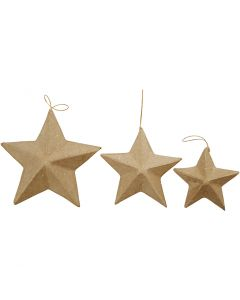 Stars, D: 7,5+10+12,5 cm, 6 pc/ 1 pack